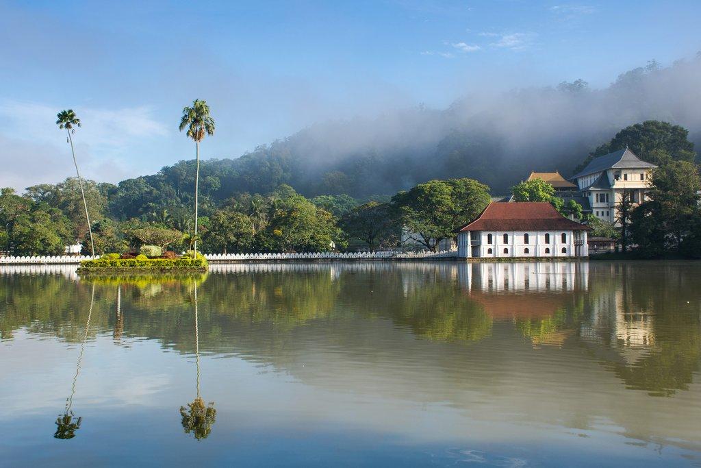 Take a walk around the Bogambara Lake in the morning