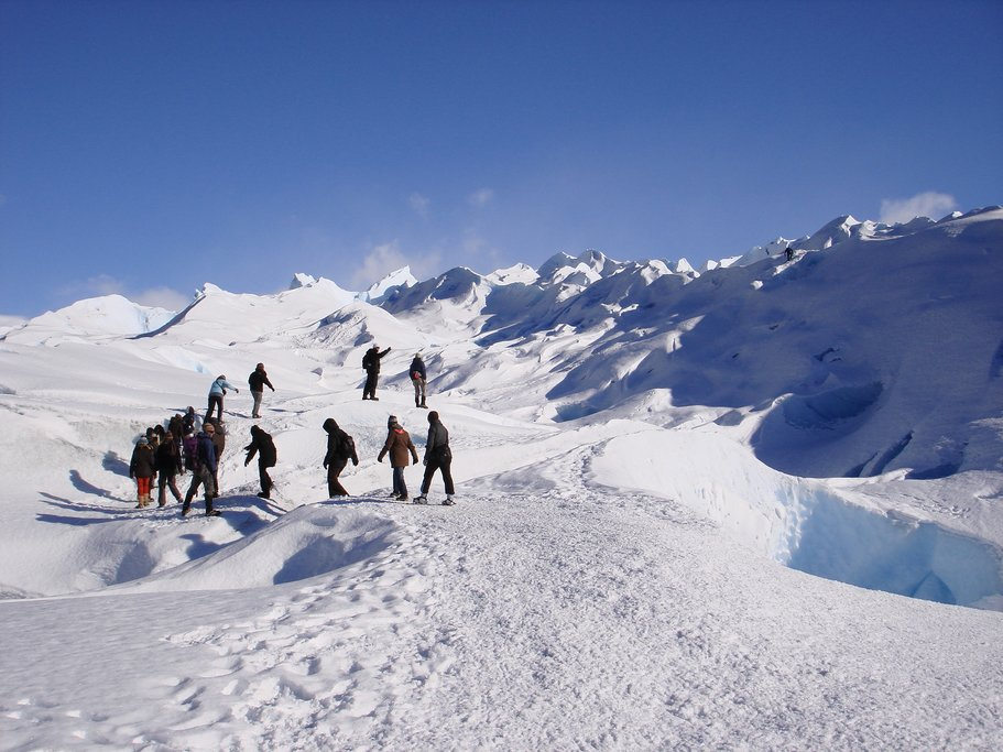 Trek across the Perito Moreno glacier.