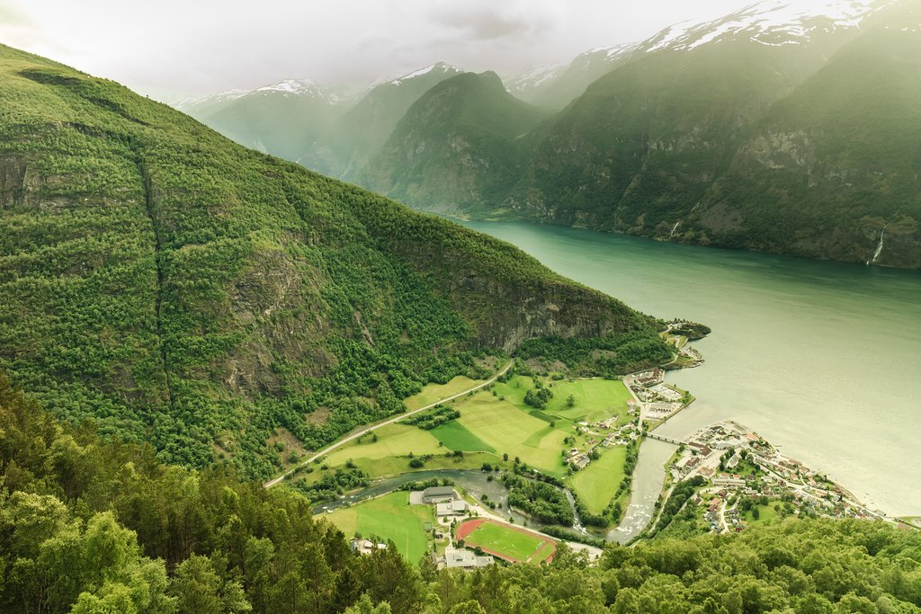 The Aurland Valley reaches the Aurlandsfjord