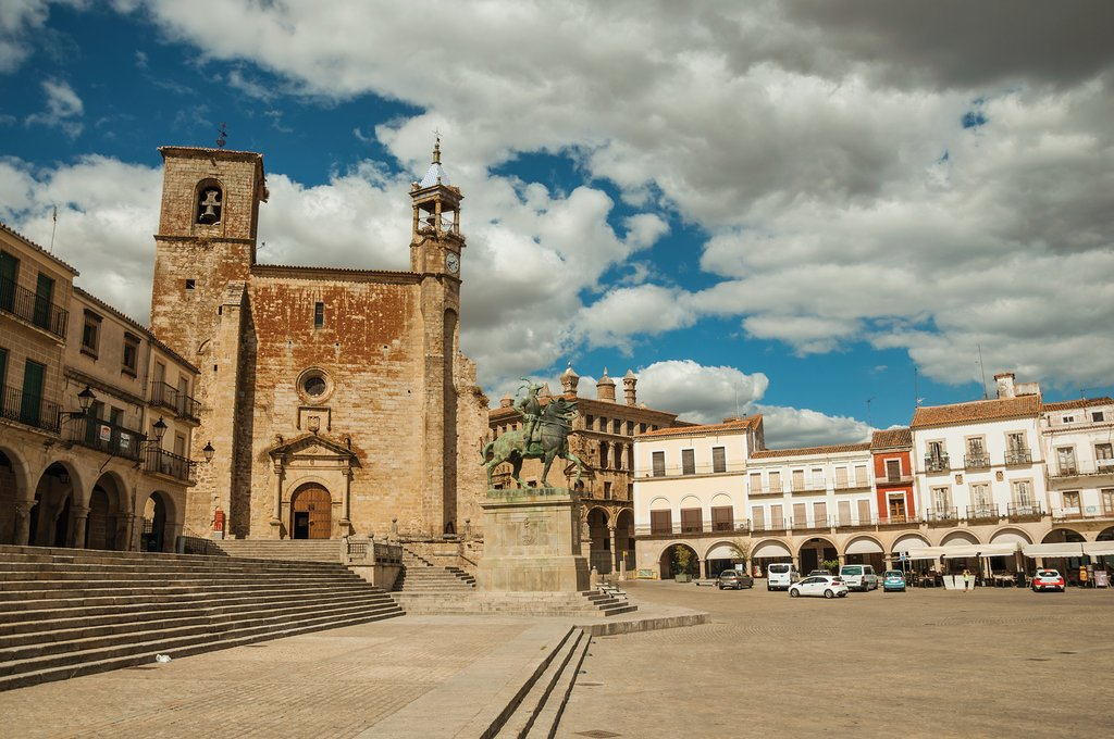 The Plaza Mayor, in Trujillo