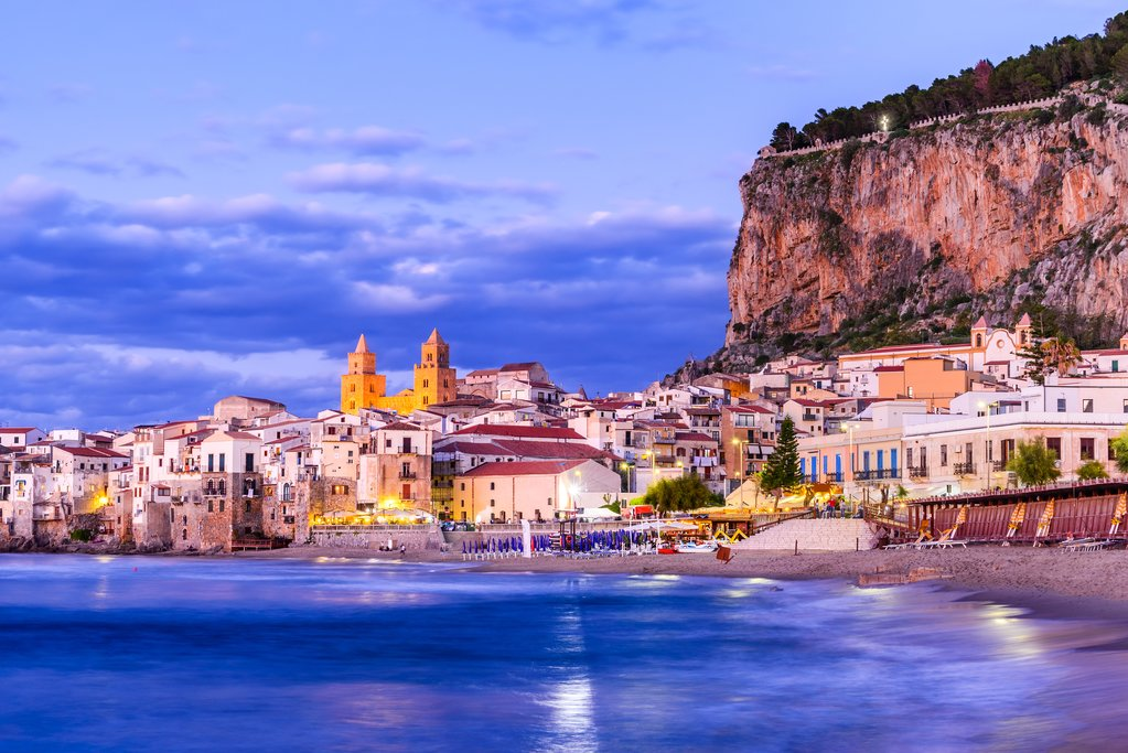 The seaside town of Cefalù