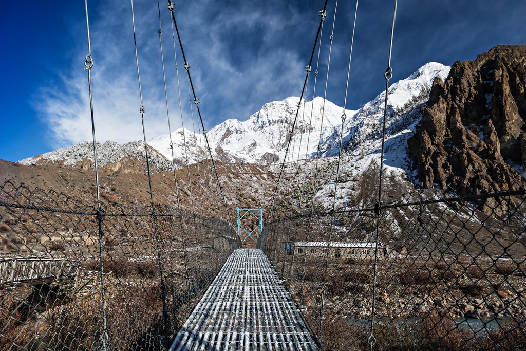 Metal bridge near Manang
