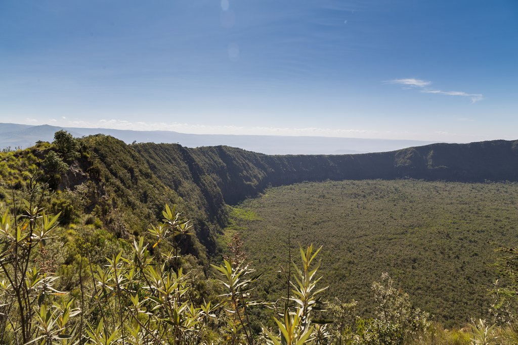The crater at Mount Longonot