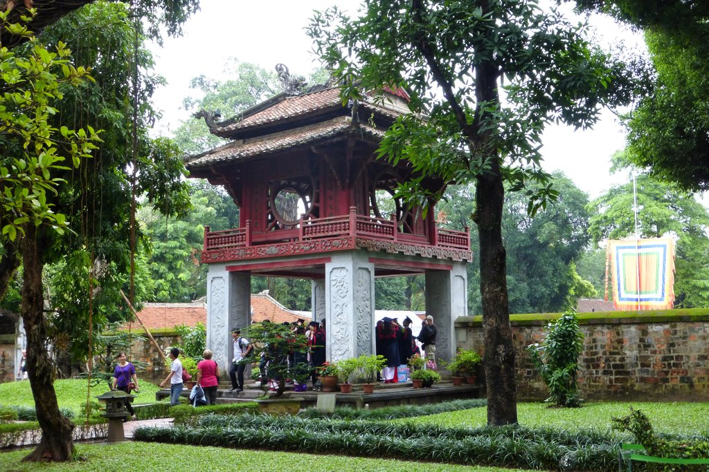 Built in 1070 to honor Confucius, the Temple of Literature has five courtyards