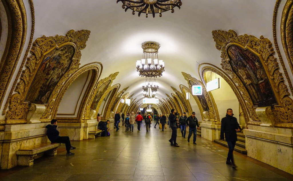 Ornate stations in the Moscow Metro