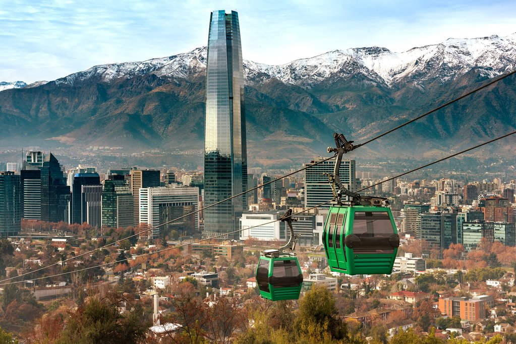 Take a cable car up to the top of Cerro San Cristóbal