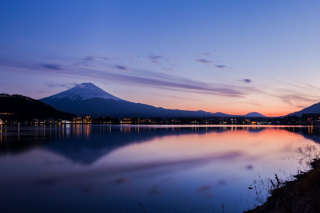 Sunset in Lake Kawaguchi