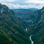 View of the Verdon Gorges from above