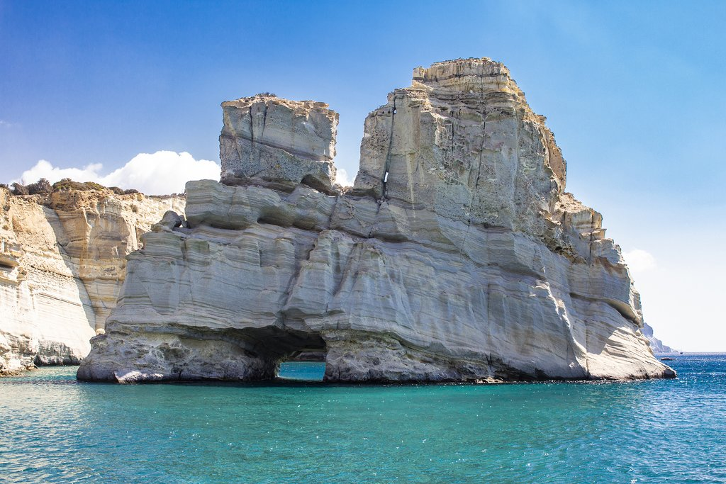 Rock formations of Kleftiko, off the island of Milos