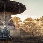 La Rotonde fountain, in the central roundabout in Aix-en-Provence