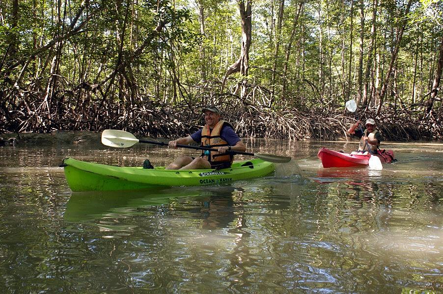 Kayaking on the river at Punta Uva