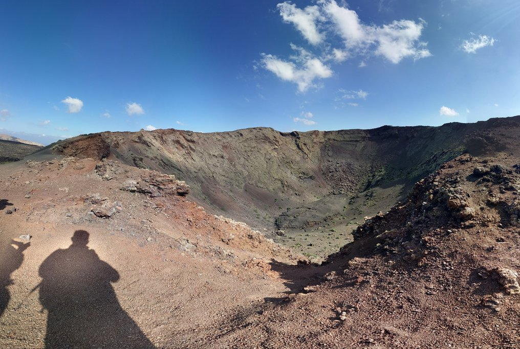 Volcanic crater in Timanfaya