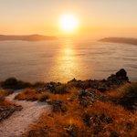 Hiking Along Santorini's Caldera