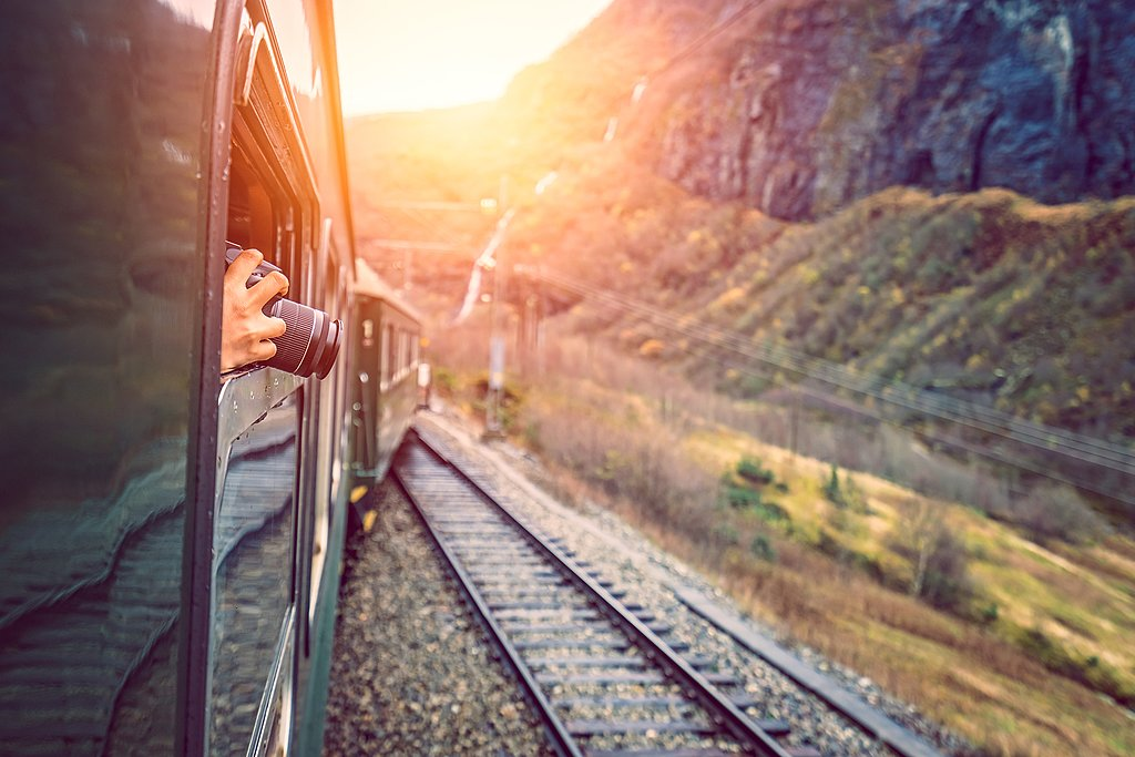 Keep your camera close on this steep and scenic train ride