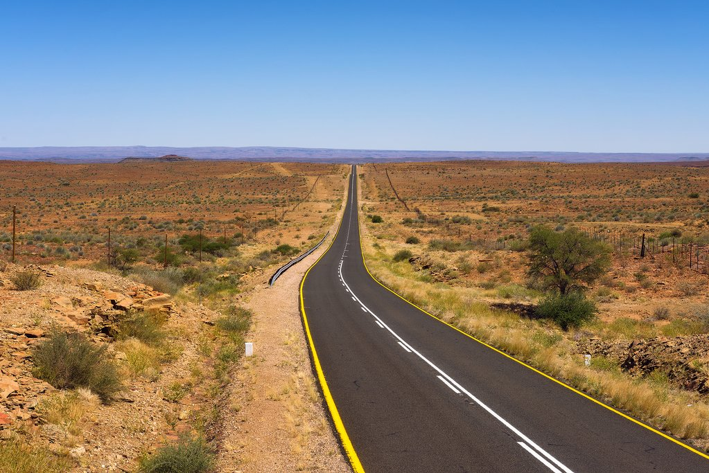 Hit the road in Namibia