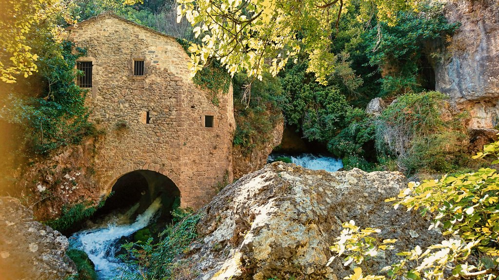 Watermill at Vis river in Circus of Navacelles