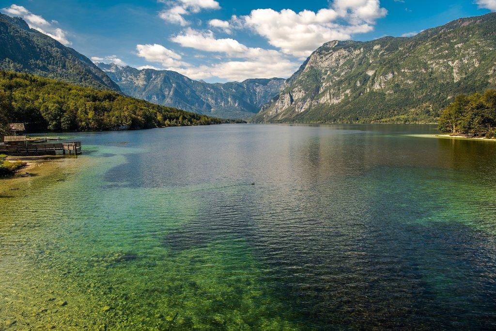 Lake Bohinj in the fall