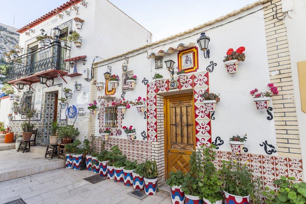 Colorful Streets of Santa Cruz, Alicante