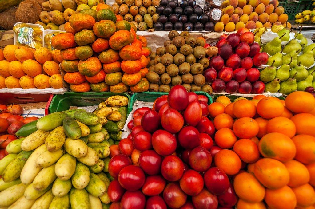 Exotic fruits, Mercado de Paloquemao, Bogotá, Colombia