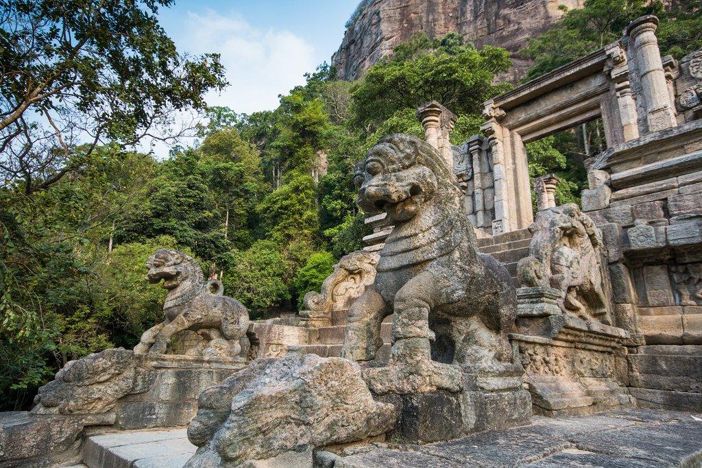 Visit the 13th-century Yapahuwa Rock Fortress