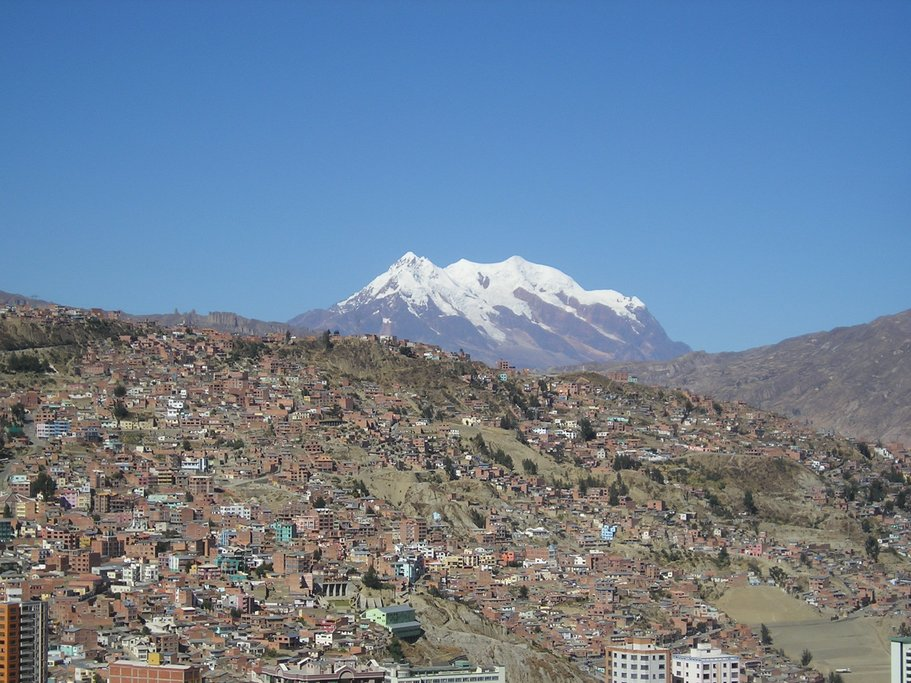 Aerial view of La Paz