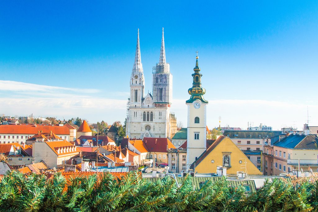 Zagreb's skyline with the Cathedral