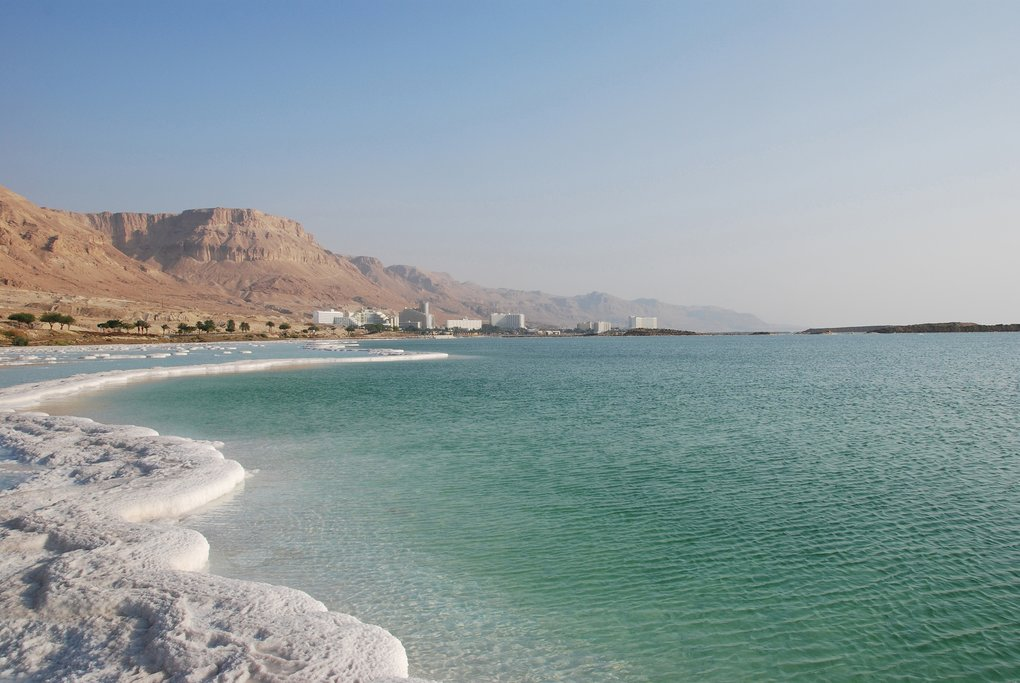 Coastline of the Dead Sea, Jordan