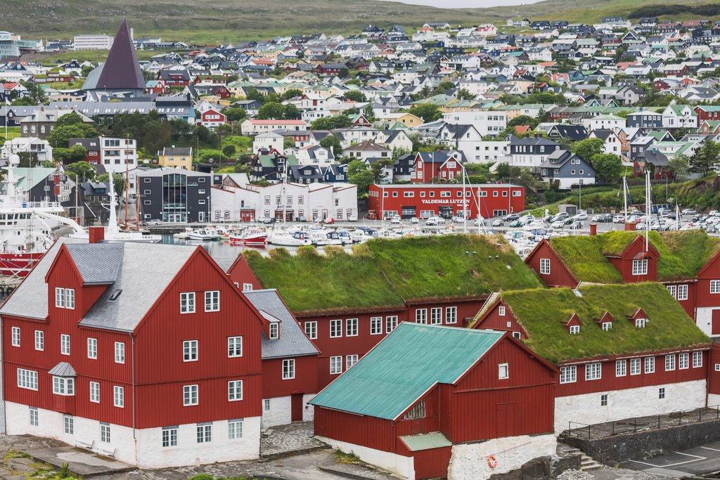 Panoramic views of Tórshavn