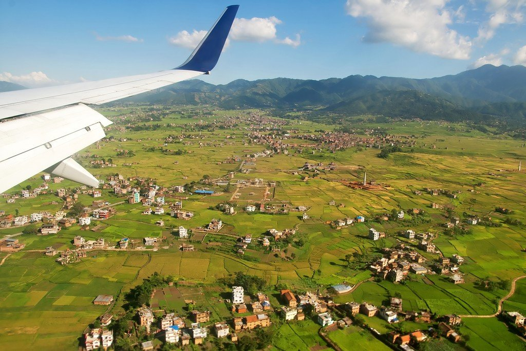 Flying out of the Kathmandu Valley