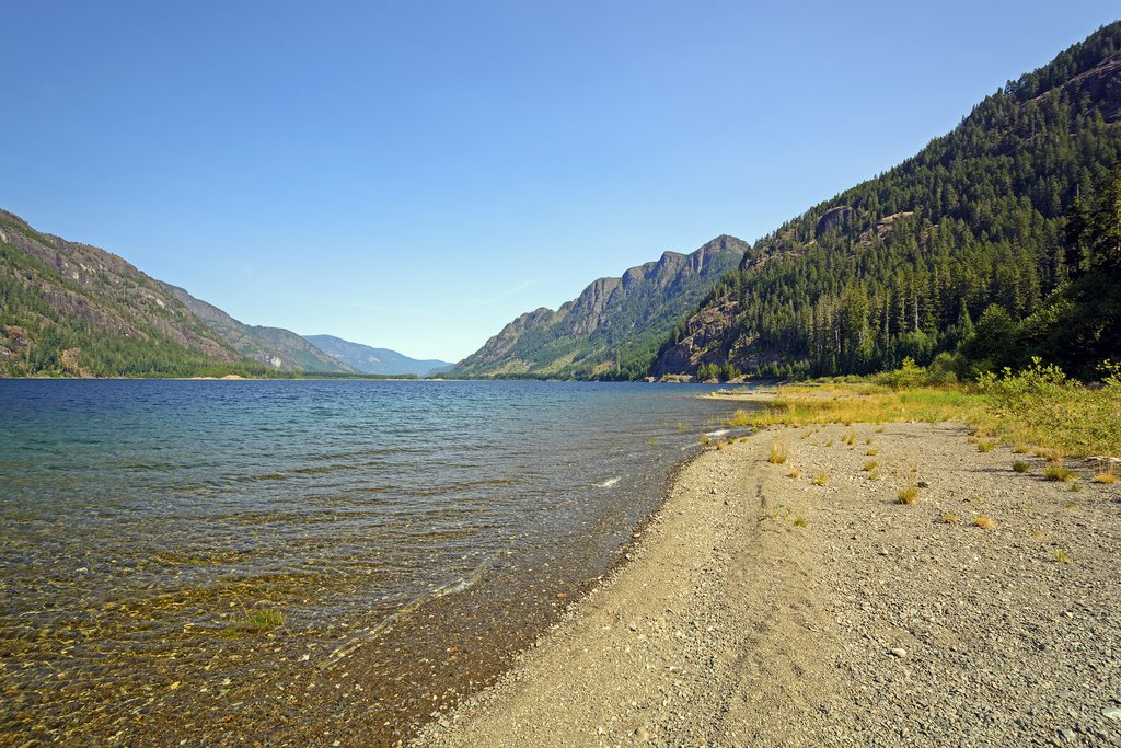 Shoreline of Buttle Lake, Strathcona Provincial Park