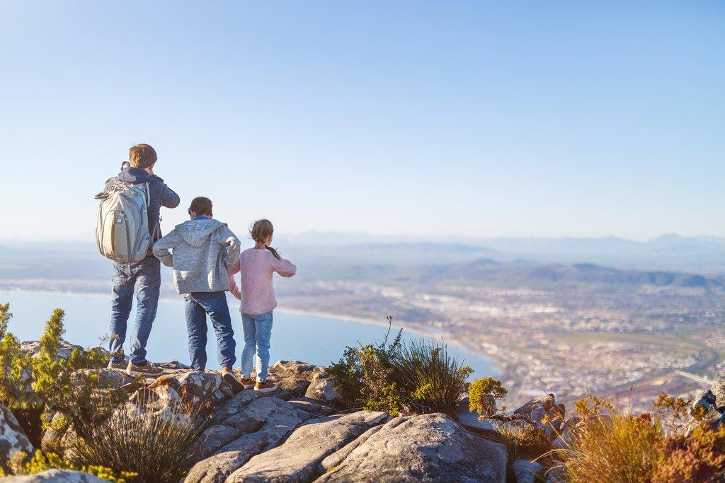 Family atop Table Mountain