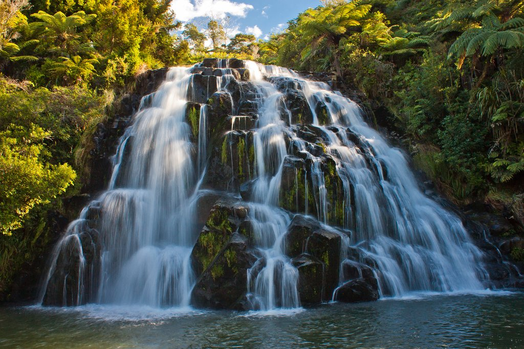 A waterfall in Waihi