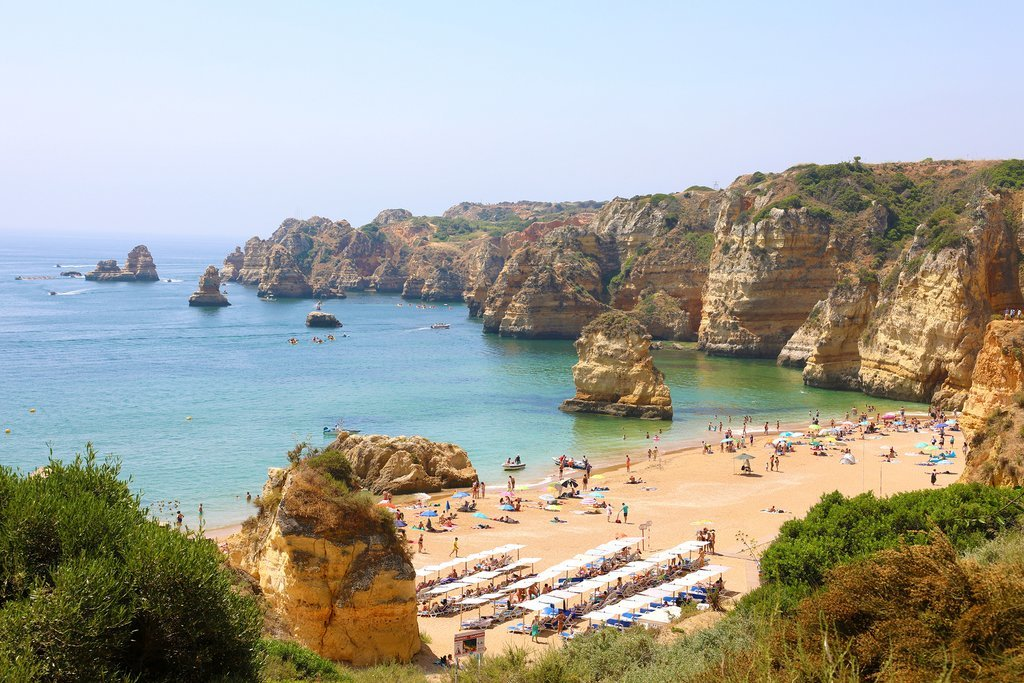 The romantic cliffs and beaches of Faro