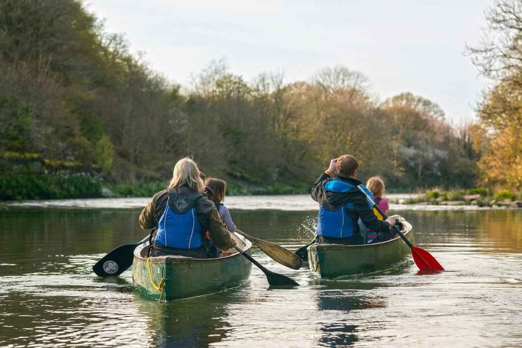 Canoeing on the River Teifi