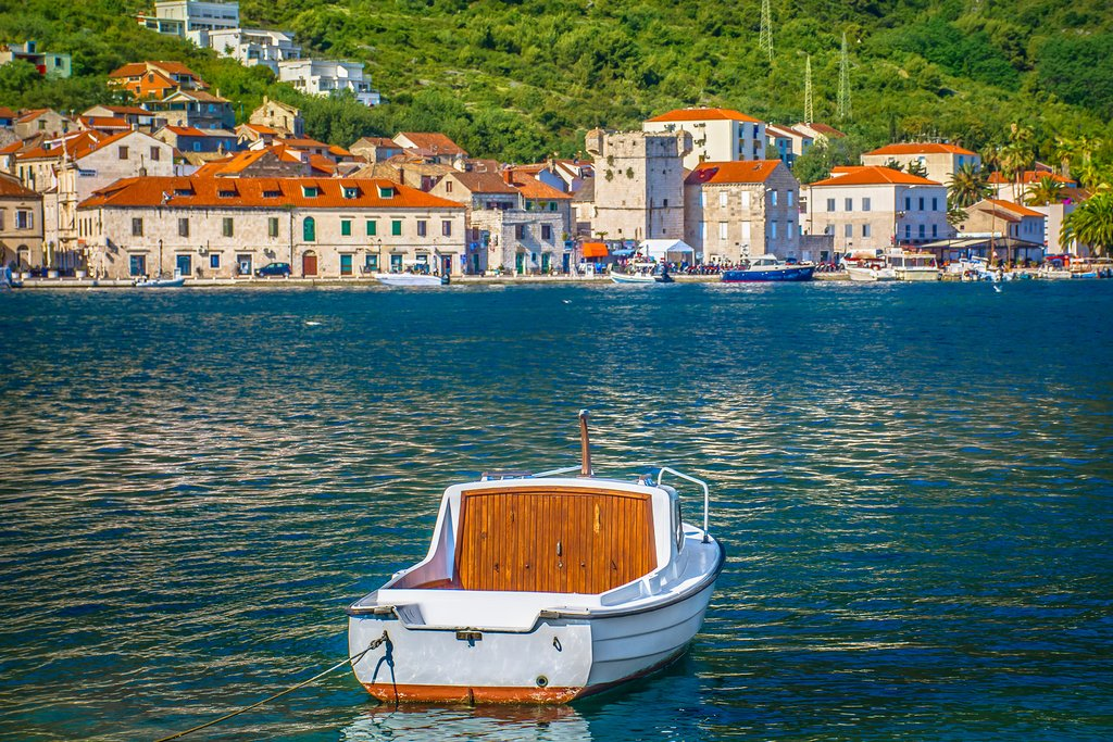 Scenic view at picturesque Vis Town