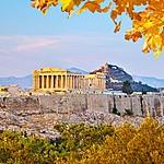 Sunrise over the Acropolis.