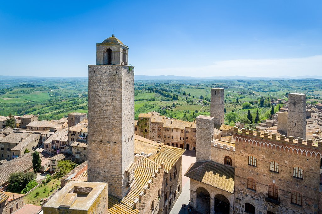 The town of San Gimignano in Tuscany
