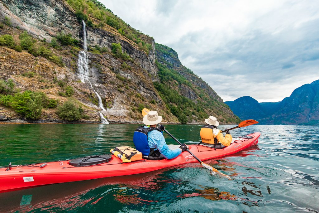 Kayaking in Nærøyfjorden