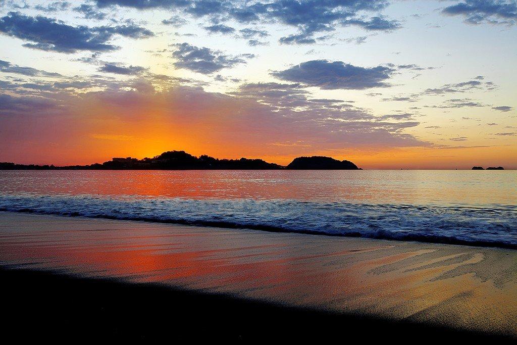 Sunset over the Guanacaste coast