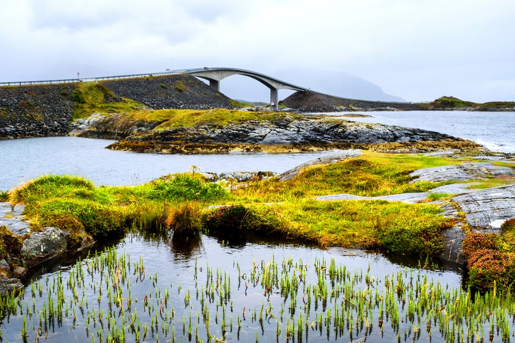 Drive on the Atlantic Road to get to Kristiansund