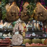 Various cured meats in the Mercato Centrale