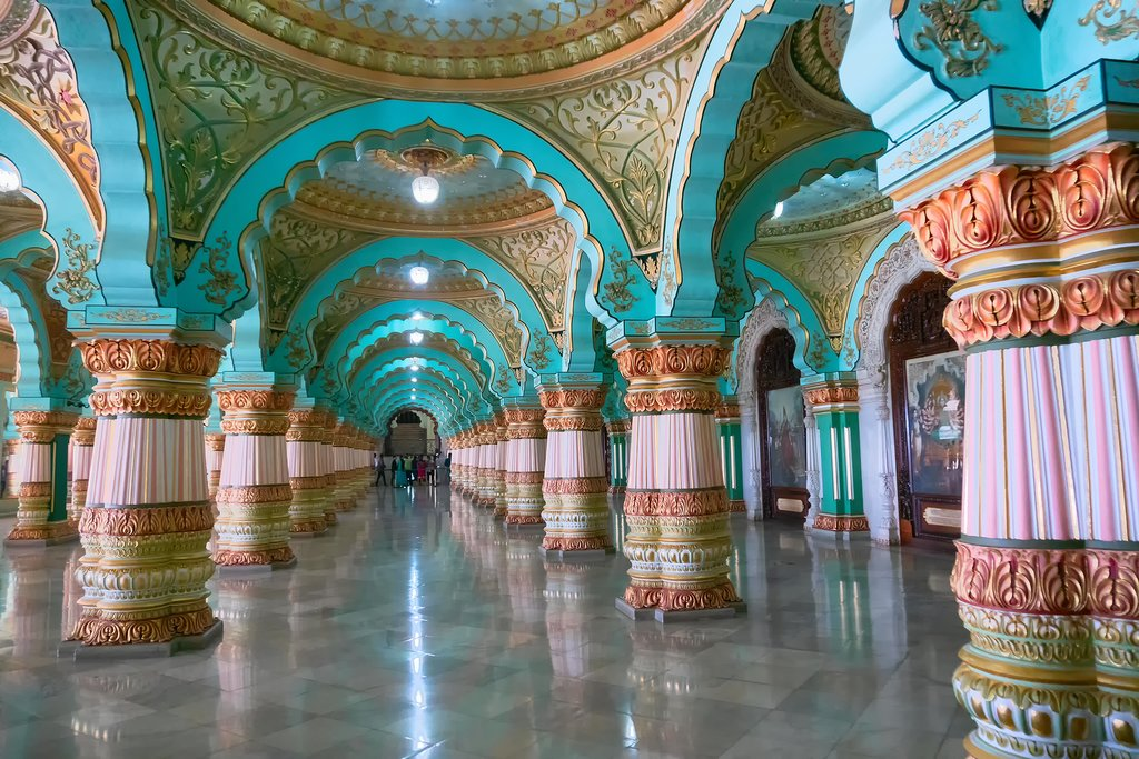 Inside the Mysore Palace