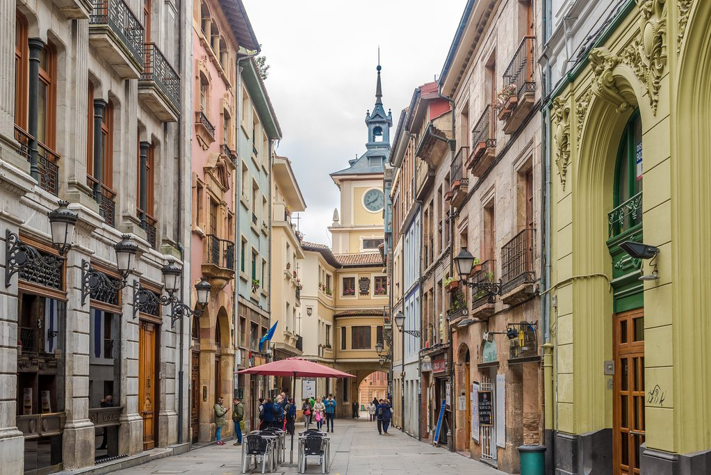 The colorful streets of Oviedo