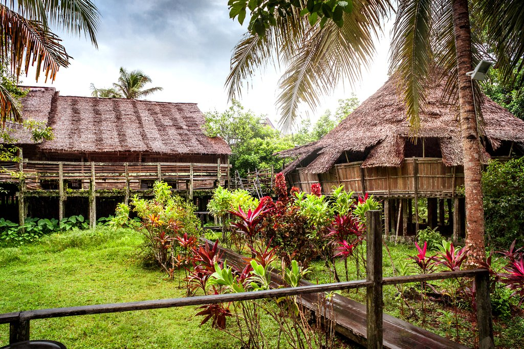 Traditional Bidayuh Longhouse