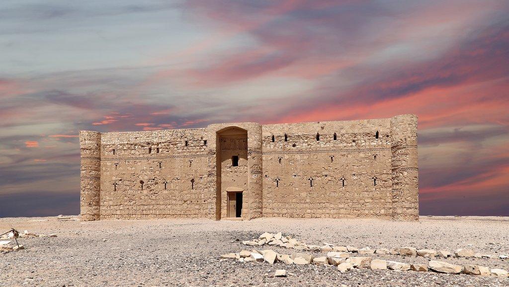 Qasr Kharana, the desert castle, in eastern Jordan
