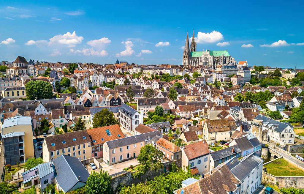 Aerial view of Chartres