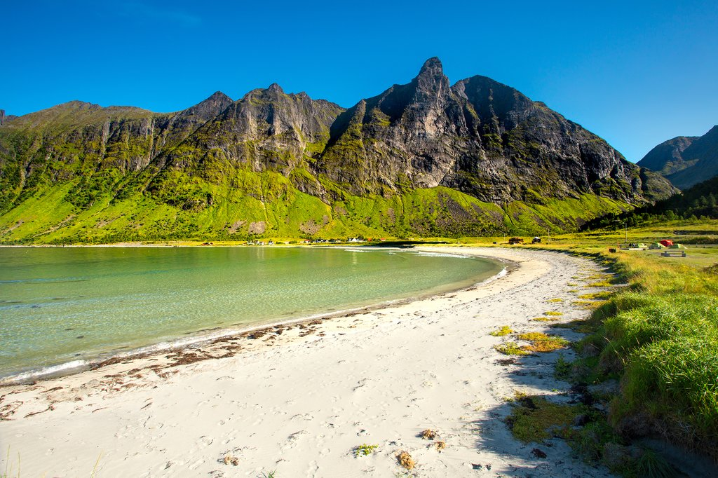 A remote beach on Senja island