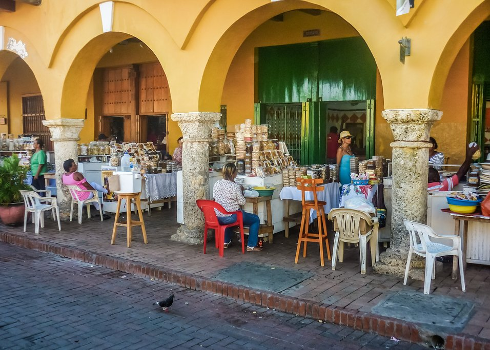 Food Market in Cartagena