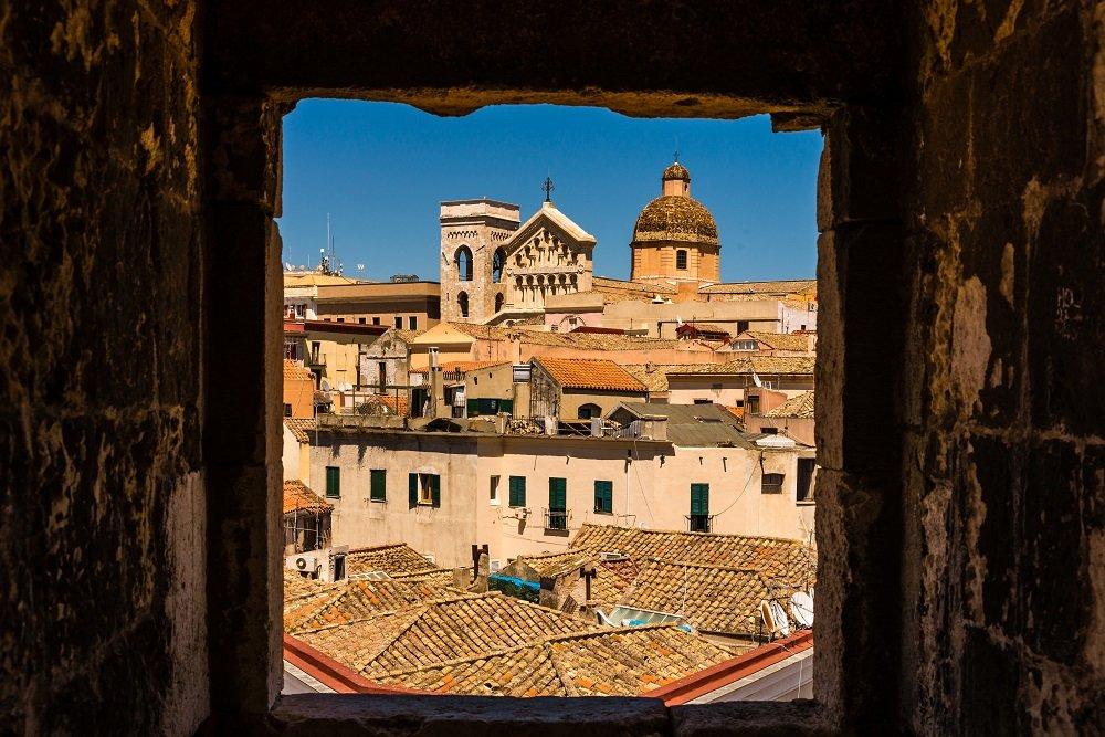 A view of Cagliari's historic center