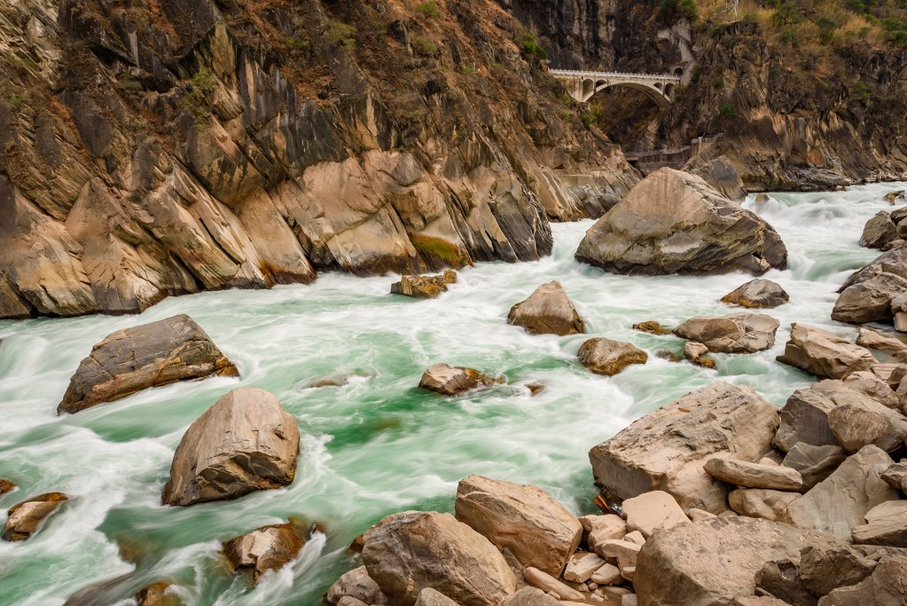 Jinsha River in the Tiger Leaping Gorge